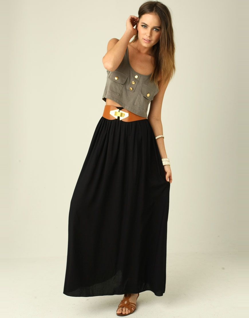 How To Wear Maxi Skirts | Skirt belt, Maxi skirts and Skirts