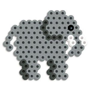 Perler Beads Silicone Pegboard Fused Bead Kit - Elephant by Perler Beads. $2.99. Makes a cute elephant. Flexible silicone pegboard and heat resistant pattern card. For ages 6 years and above. Contains 179 pieces. Fused Beads by Perler. From the Manufacturer                This Elephant Fused Bead Kit from Perler features a flexible silicone pegboard and heat resistant pattern cards. Includes 175 multi colored beads, pattern sheet, ironing paper and circle silicone pegboard. For a...