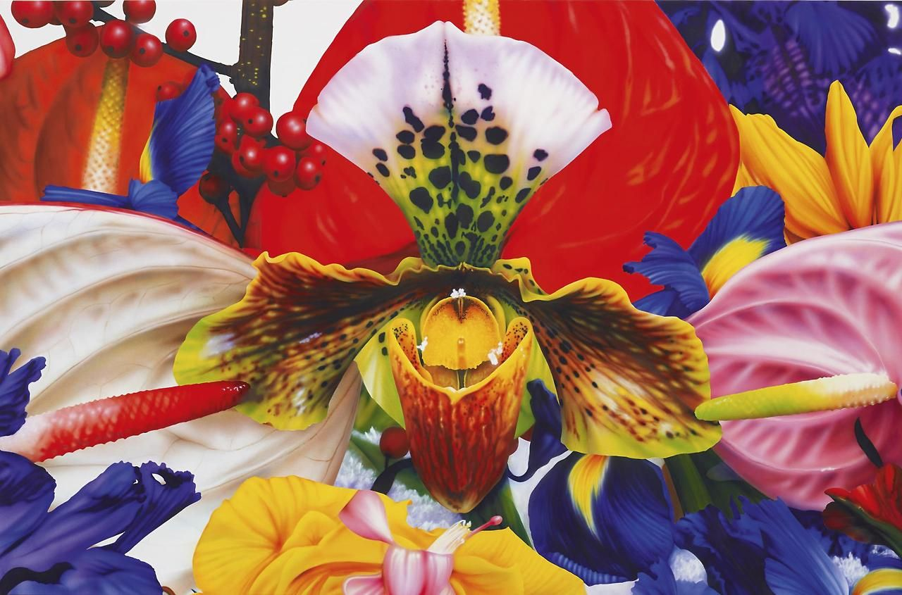 Marc Quinn (British, b. 1964), Higher Atmosphere, 2006. Acrylic on canvas, 168 × 255 cm.