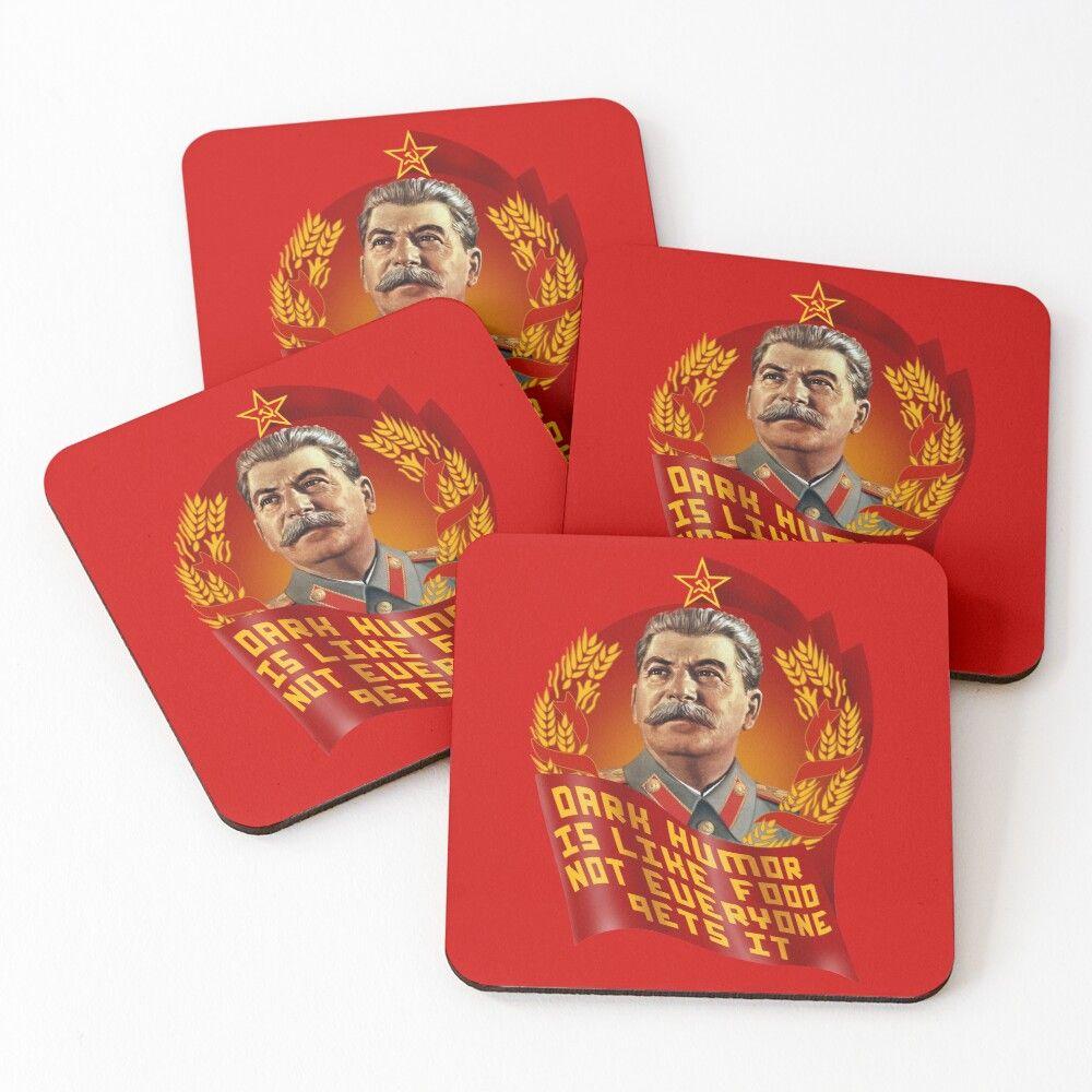 Stalin Dark Humor Is Like Food Not Everyone Gets It Coasters Set Of 4 In 2020