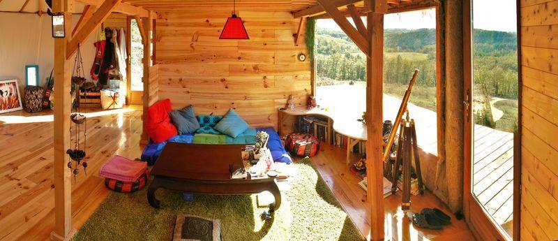 Aménagement Yourte notre cocon : aménagement intérieur - carnet de yourte | yurt