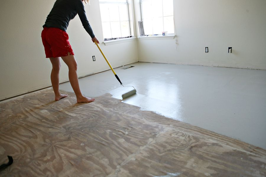Diy Stencil Painted Subflooring Diy Flooring Flooring Ripping Up Carpet