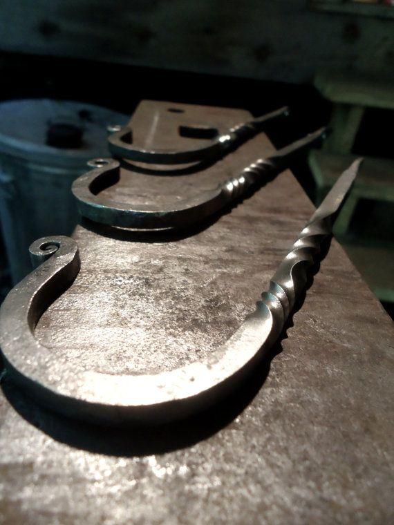 Hand Forged Wall Hook Entryway Coat Hook Decorative Metal Hook