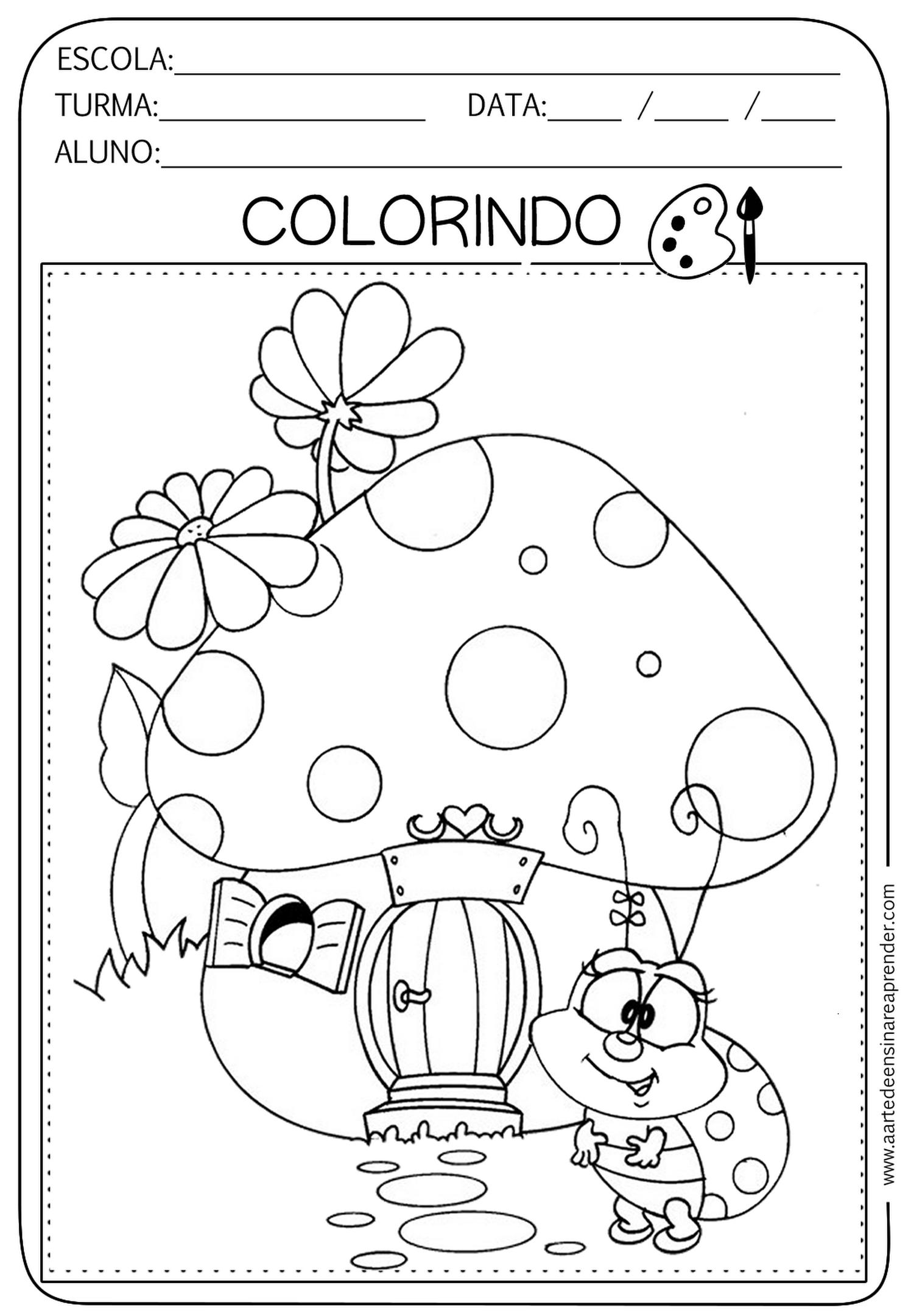 Atividade Pronta Colorir Com Imagens Atividades Desenho De