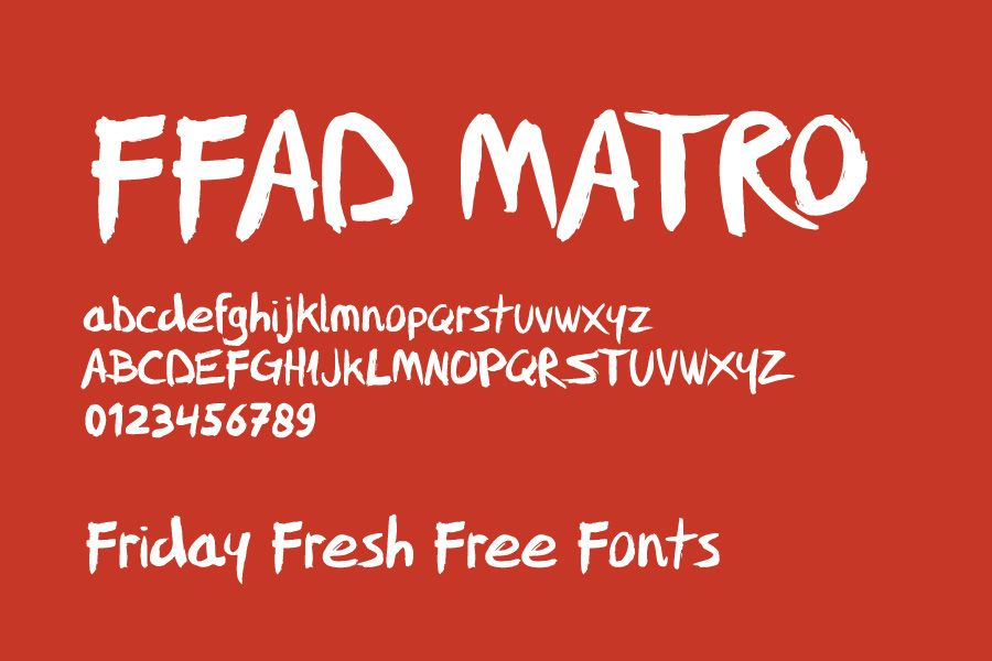 ffad matro font