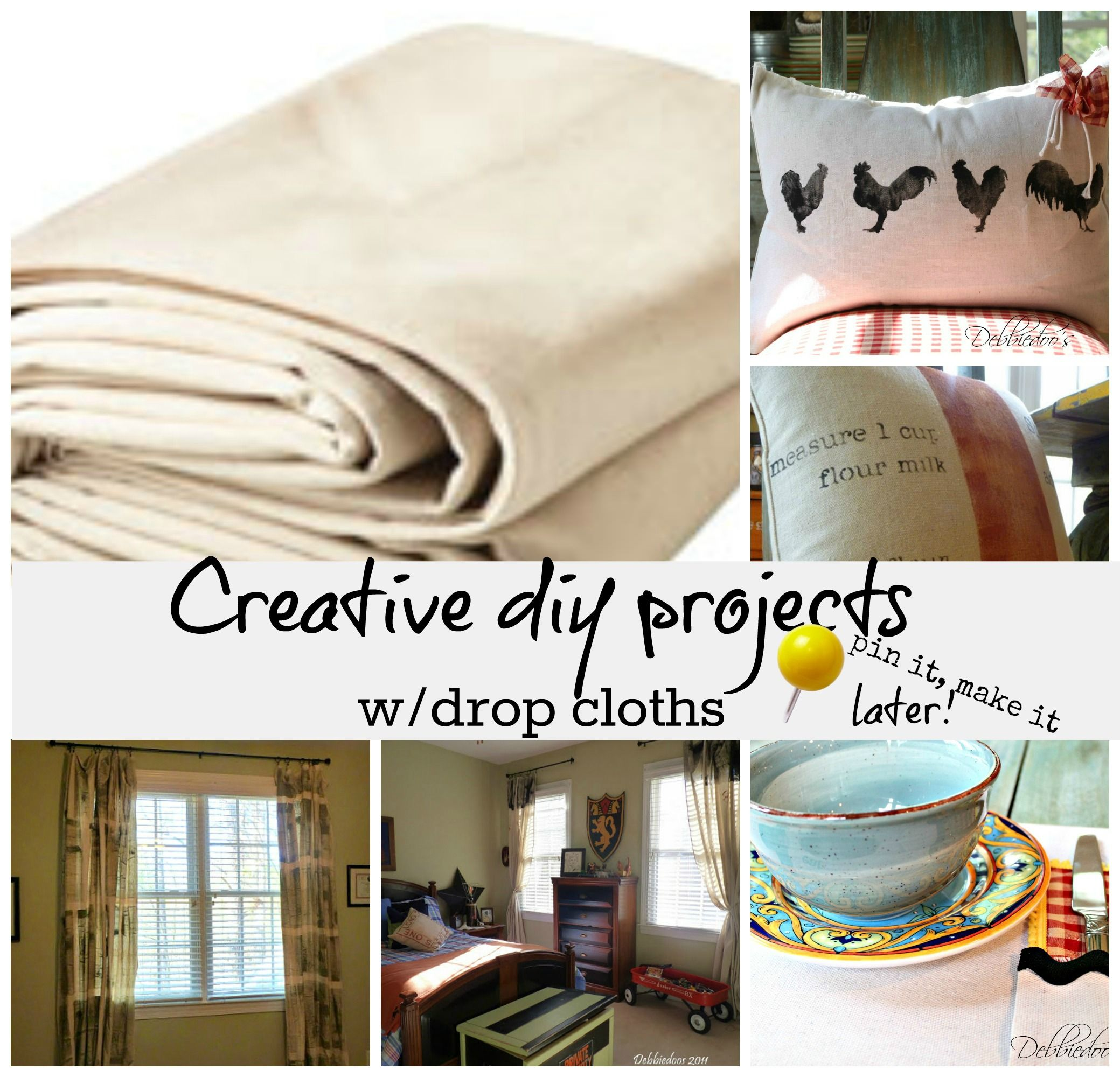 Diy projects out of drop cloths | Diy things, Drop and Creative