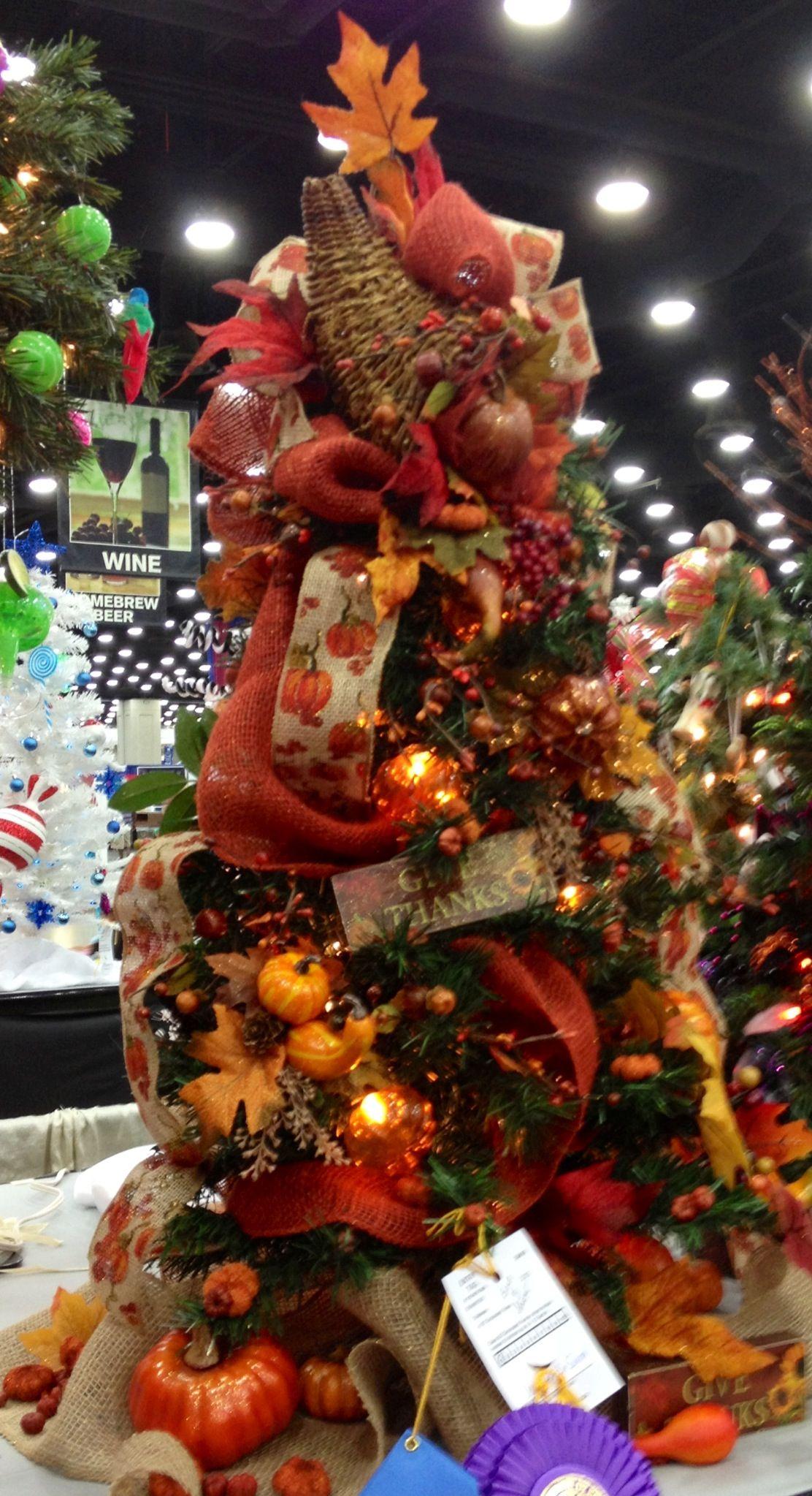 Fall Tree … Fall tree decorations, Fall christmas tree
