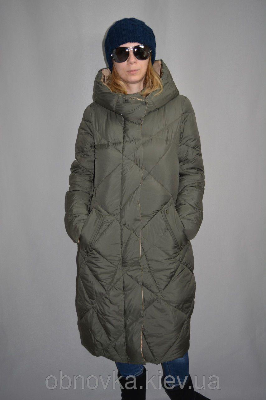 Пальто-пуховик женское зимнее двустороннее удлиненное р. S-XL Grace  SG2017163 93a431c53e541