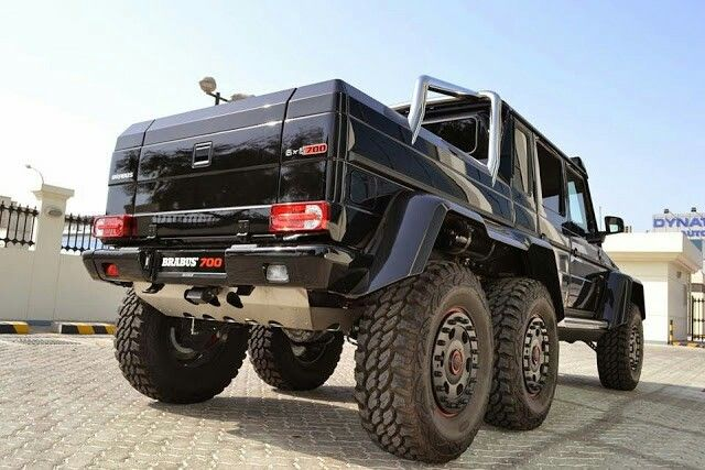 Brabus 700 6x6 B63s Black Based On Mercedes Benz G63 Amg 6x6 With