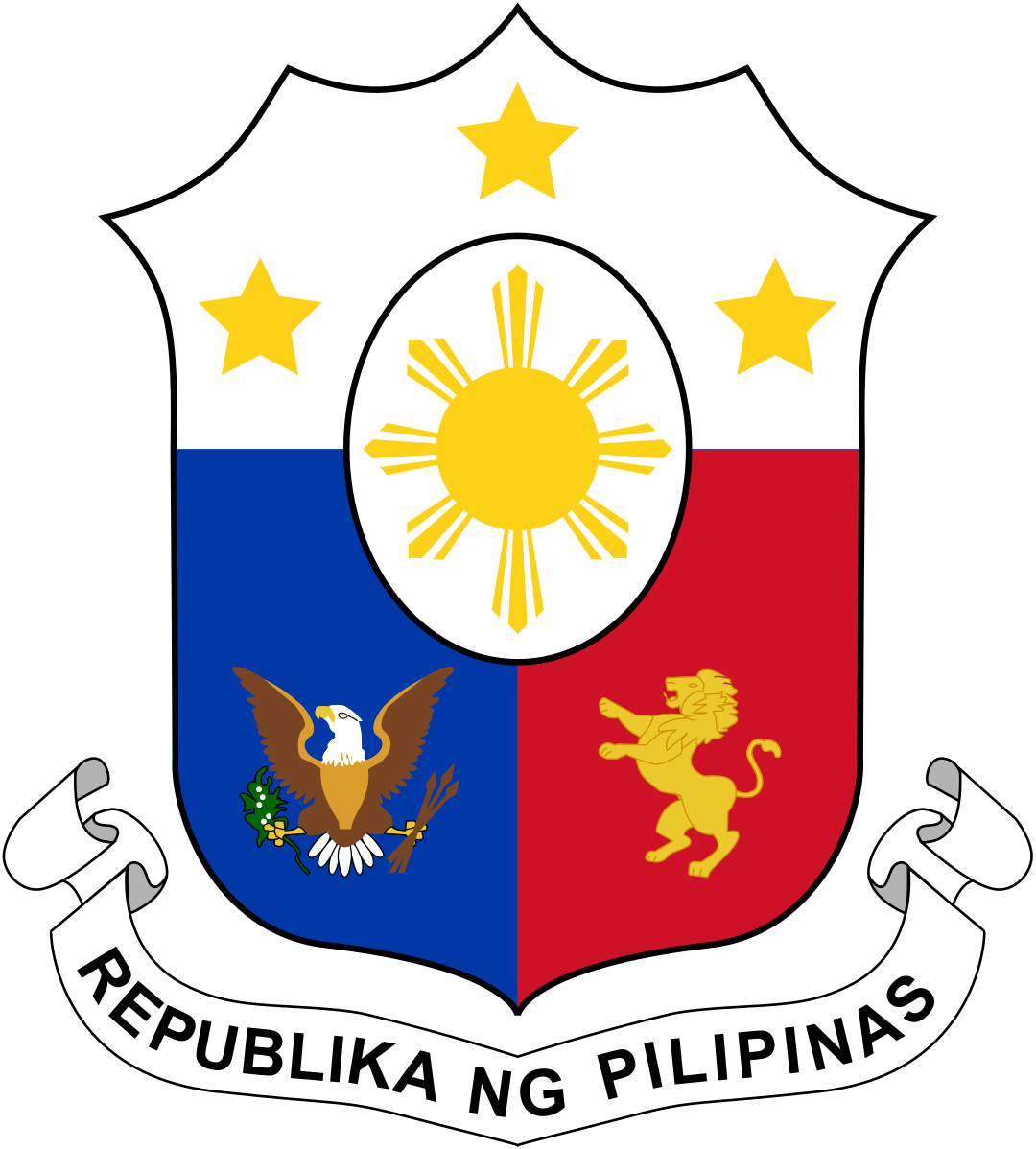 Coat Of Arms Of The Philippines Coat Of Arms Filipino Tattoos Philippines [ 1198 x 1080 Pixel ]