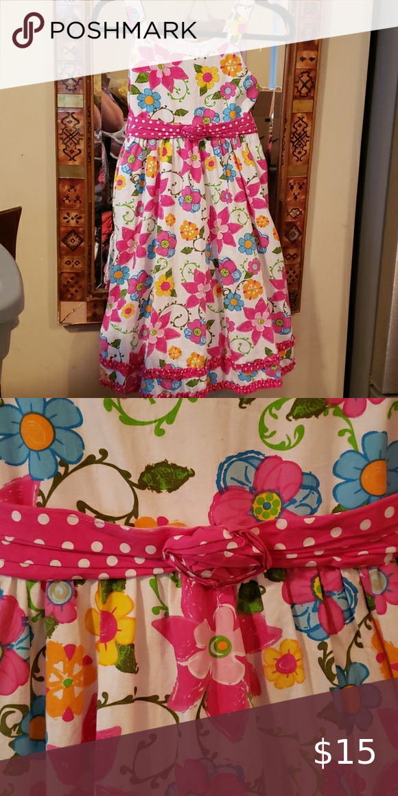 Girls size 14 floral dress great condition