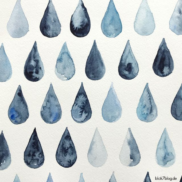 Photo of Watercolor raindrops – blick7