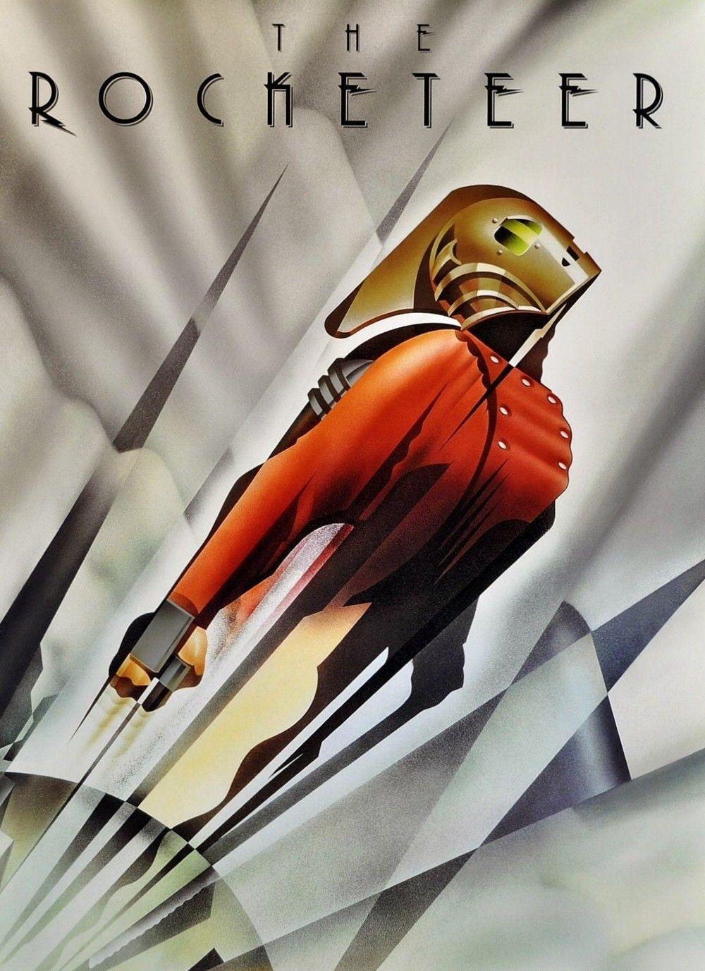 """""""Rocketeer"""", una película que paso sin pena ni gloria basada en el magnífico comic de Dave Stevens, tenía este chulísimo poster de aires Art Decó."""