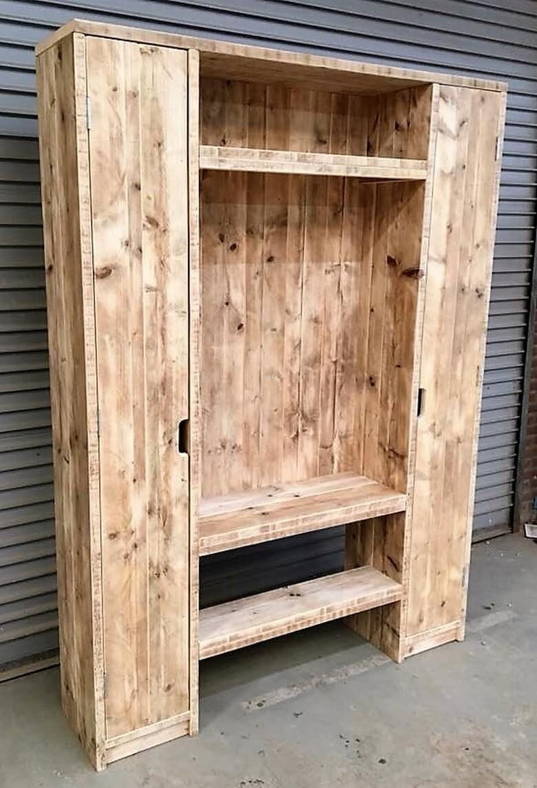 Wood Pallets Repurposed Closet Plan | Wood pallets, Wood ...