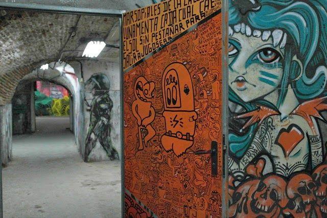 graffitis en el stano de la tabacalera arte urbano en madrid
