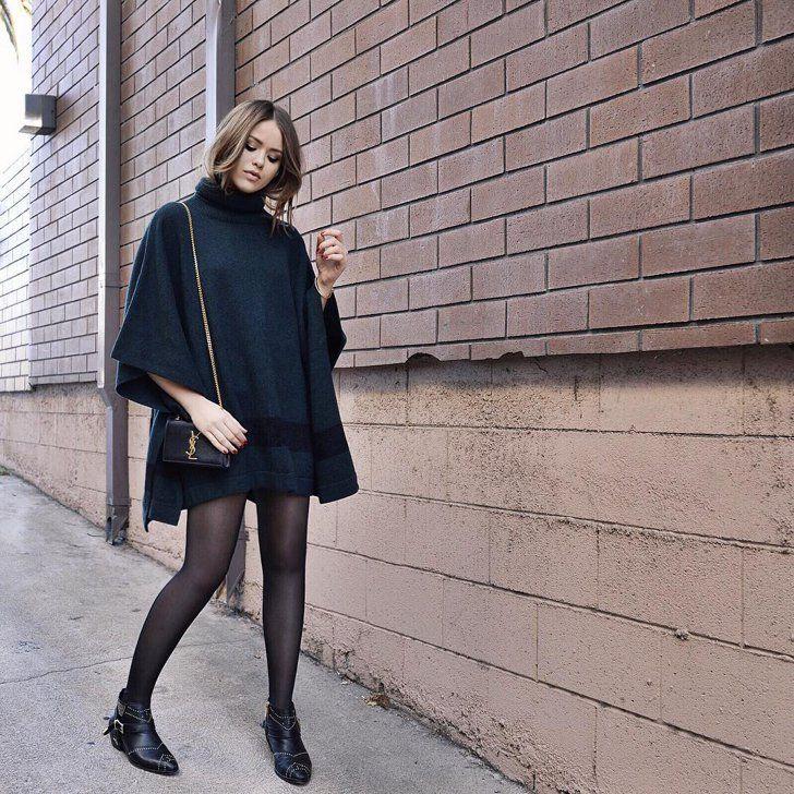 Schwarzes kleid passende strumpfhose