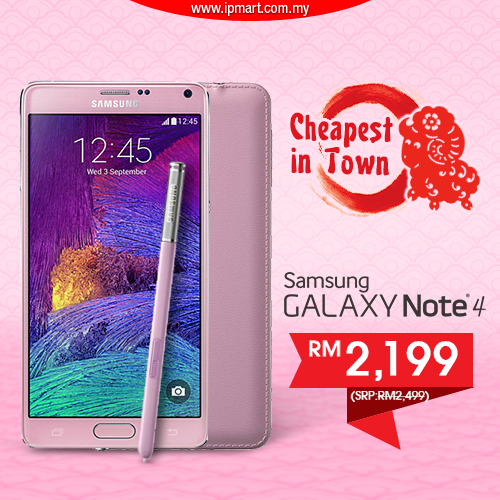 the lowest price so far samsung galaxy note 4 pink 32gb