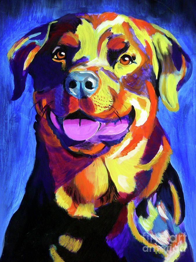 Rottweiler - Starr Painting  - Rottweiler - Starr Fine Art Print
