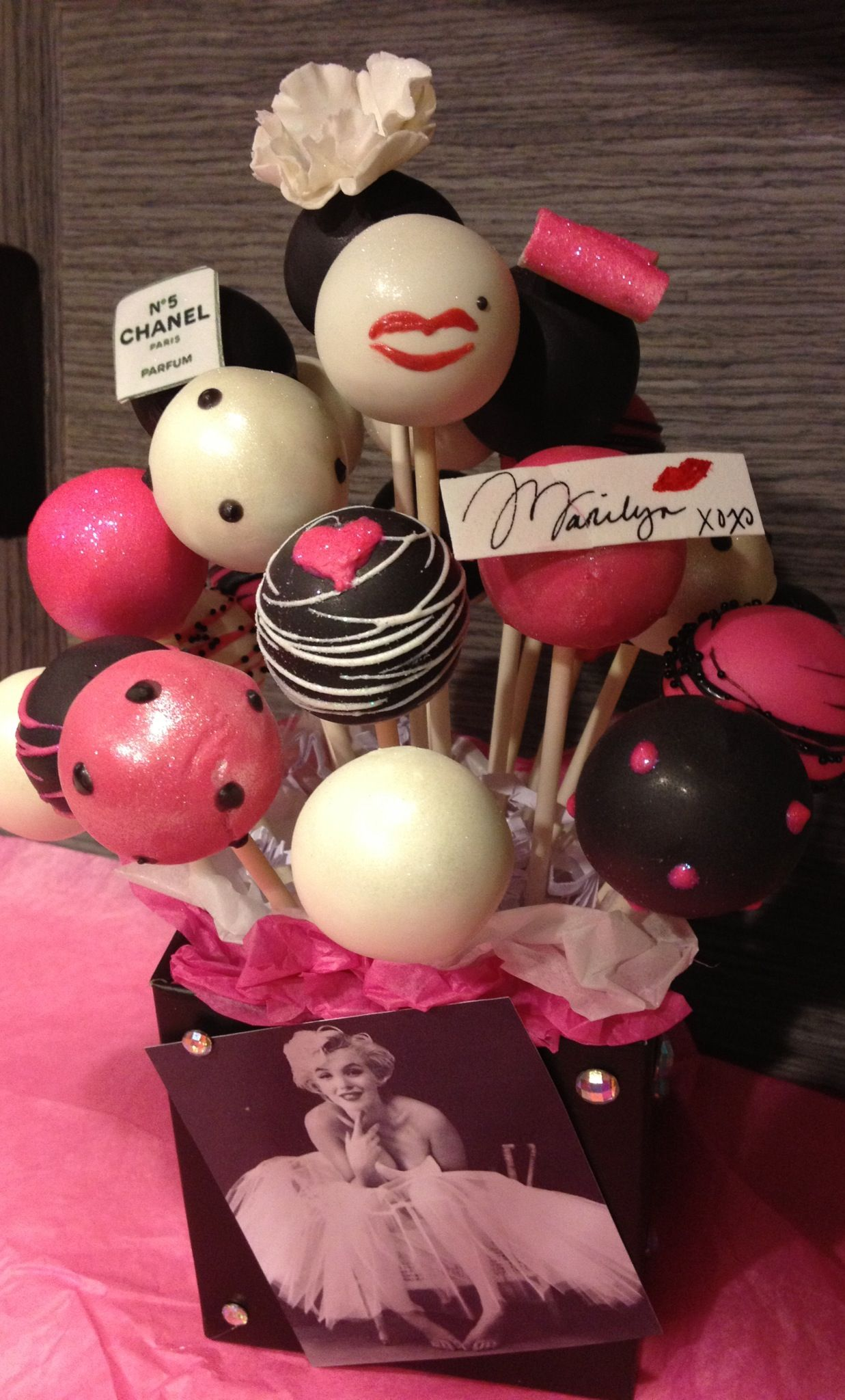 Marilyn Monroe Cake Pops By Haute Pop Couture Marilyn Monroe Birthday Cake Pops Cake