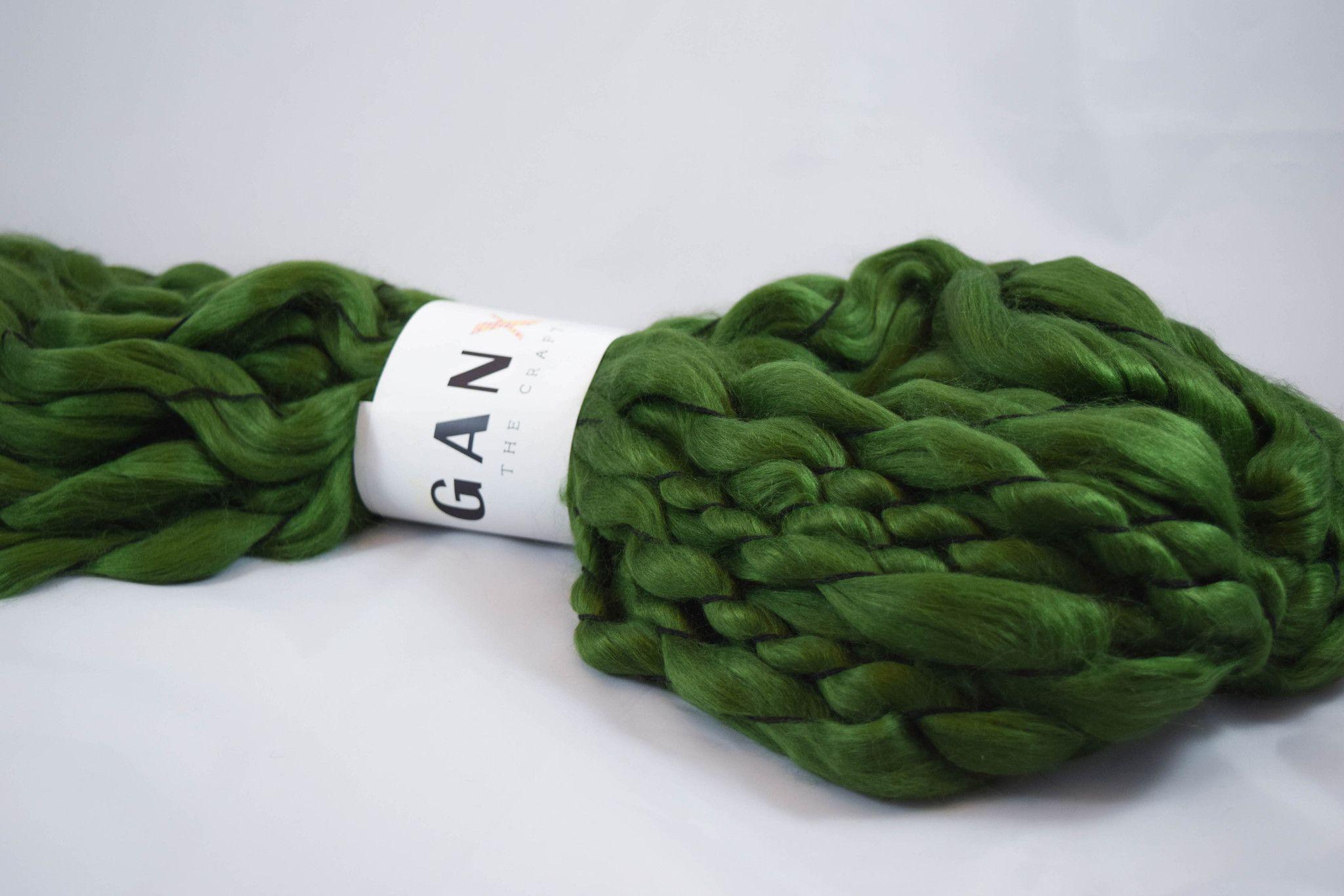 Roving Fiber - Forest Green Color