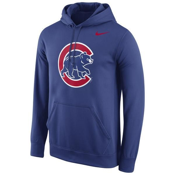 Nike Fleece Pullover (MLB Cubs) Men's Hoodies Royal