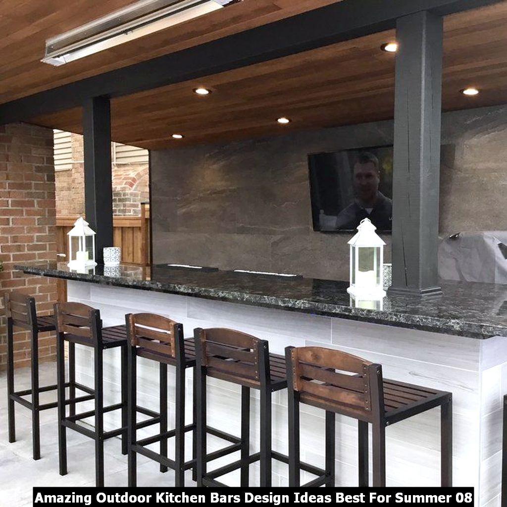 Amazing Outdoor Kitchen Bars Design Ideas Best For Summer ...