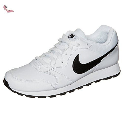 best service 88a84 40b89 Nike Md Runner 2 Leather - -Homme - blanc - blanc noir, EU