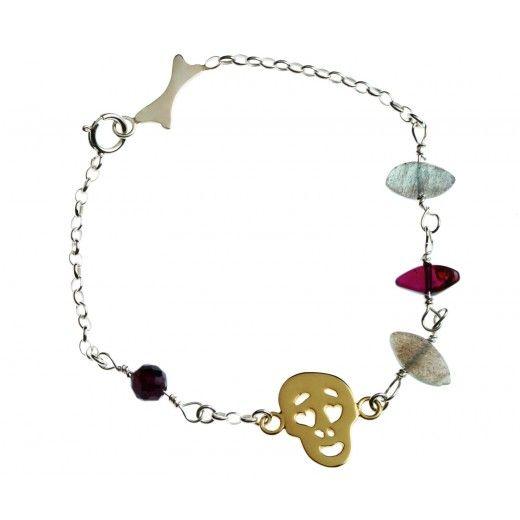 mini #skull bracelet by Krouk Madame