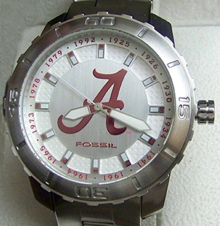 Alabama Watch Fossil Crimson Tide First 12 Championships Limited