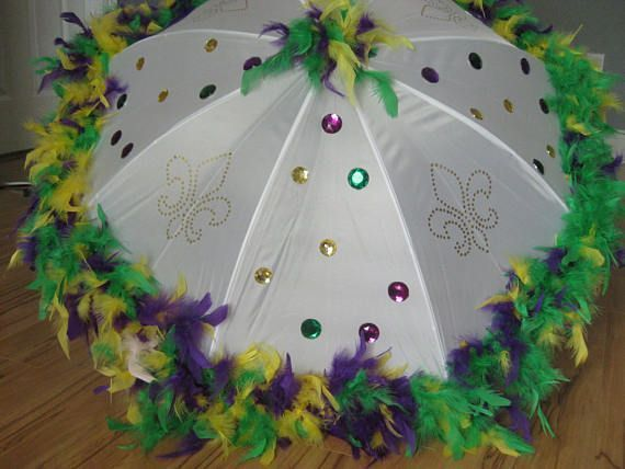 Bling New Orleans Carnival Umbrella Second Row Large Stage Production Costume Design Play Support TV Production Dance Recital Revue Bling New Orleans Mardi Gras Umbrella...
