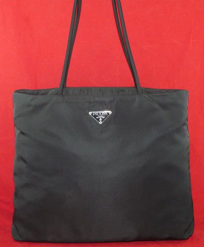 Prada Nylon Tote Shoulder Bag Extra Large City Bag Travel Bag Book Bag 16   392041564254c