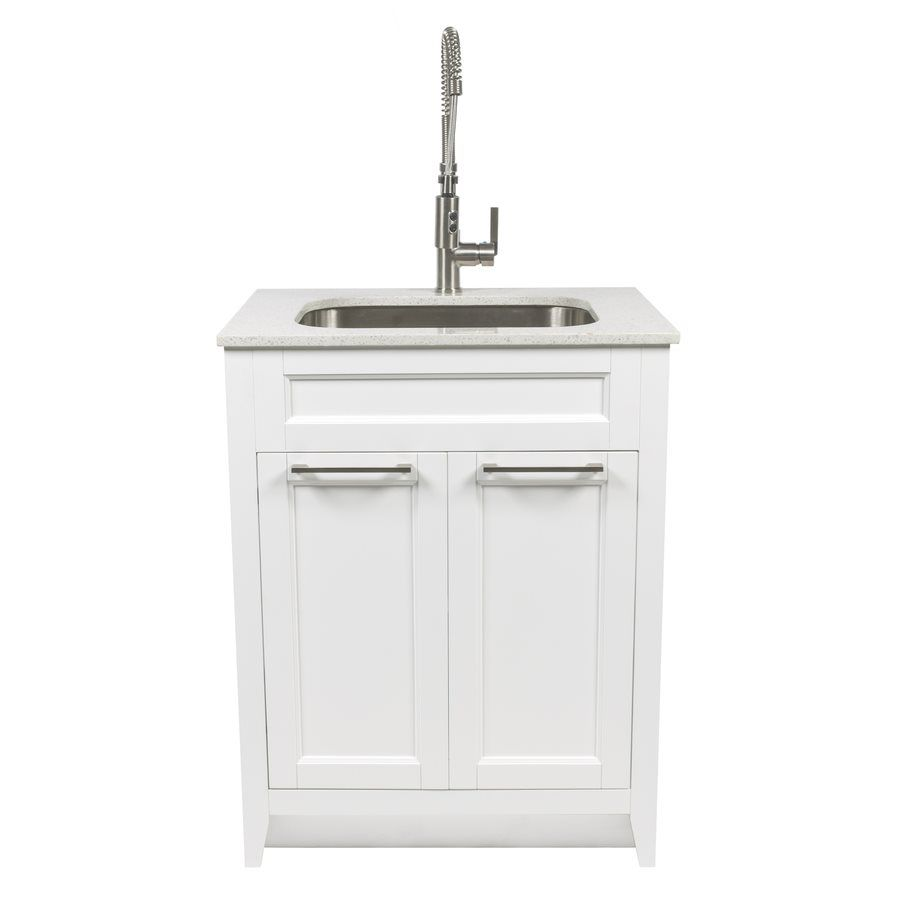 Shop Foremost Warner 29 In X 22 In White Laundry Cabinet With Sink At Lowe 39 S Canada Find Our