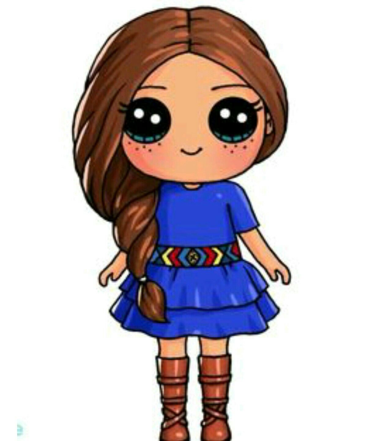 American Girl Cartoon Pinterest Cute Drawings Draw And Kawaii