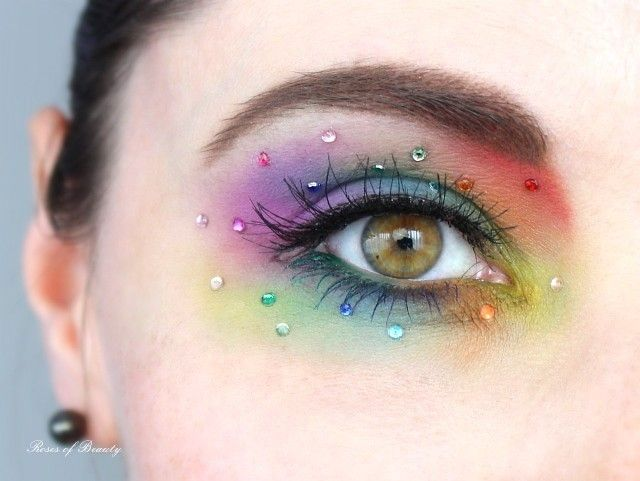 Rainbow Eye Make Up Beauty Pinterest Make Up Geschminkte