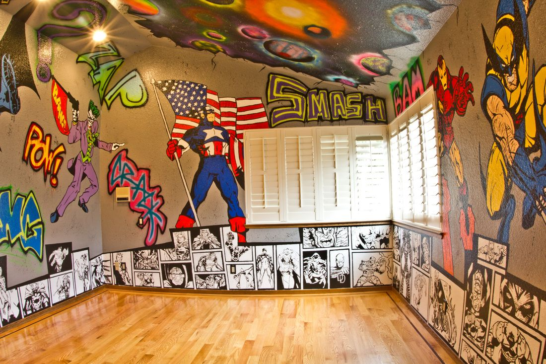 Marvel Spider-Man Graffiti Peel /& stick Sticker giant wall decal Room Logo Home