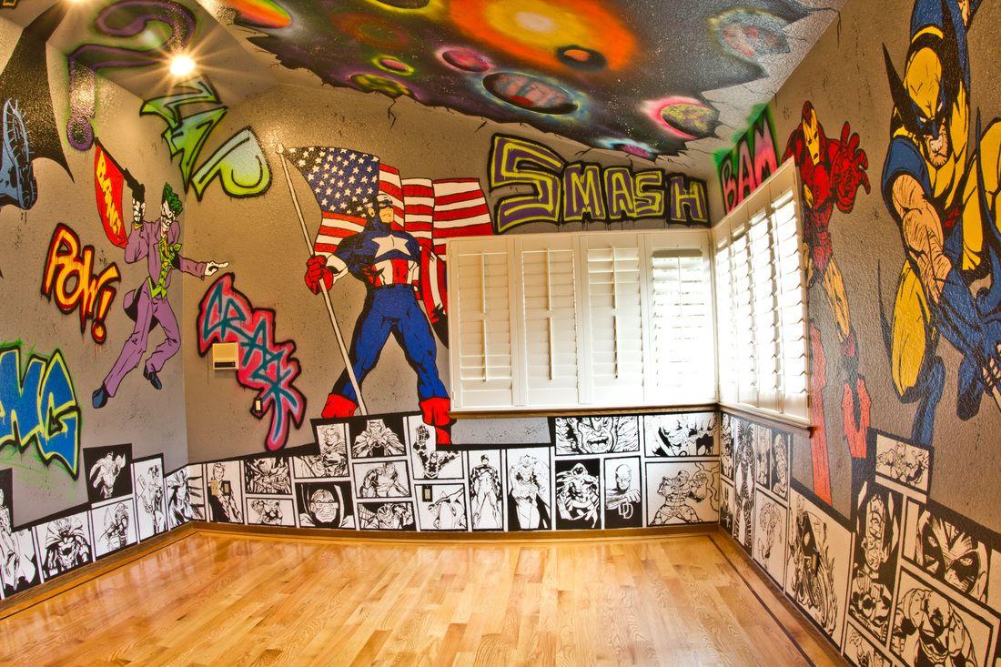 Morgan Richardson Art Marvel Bedroom Superhero Room Batman