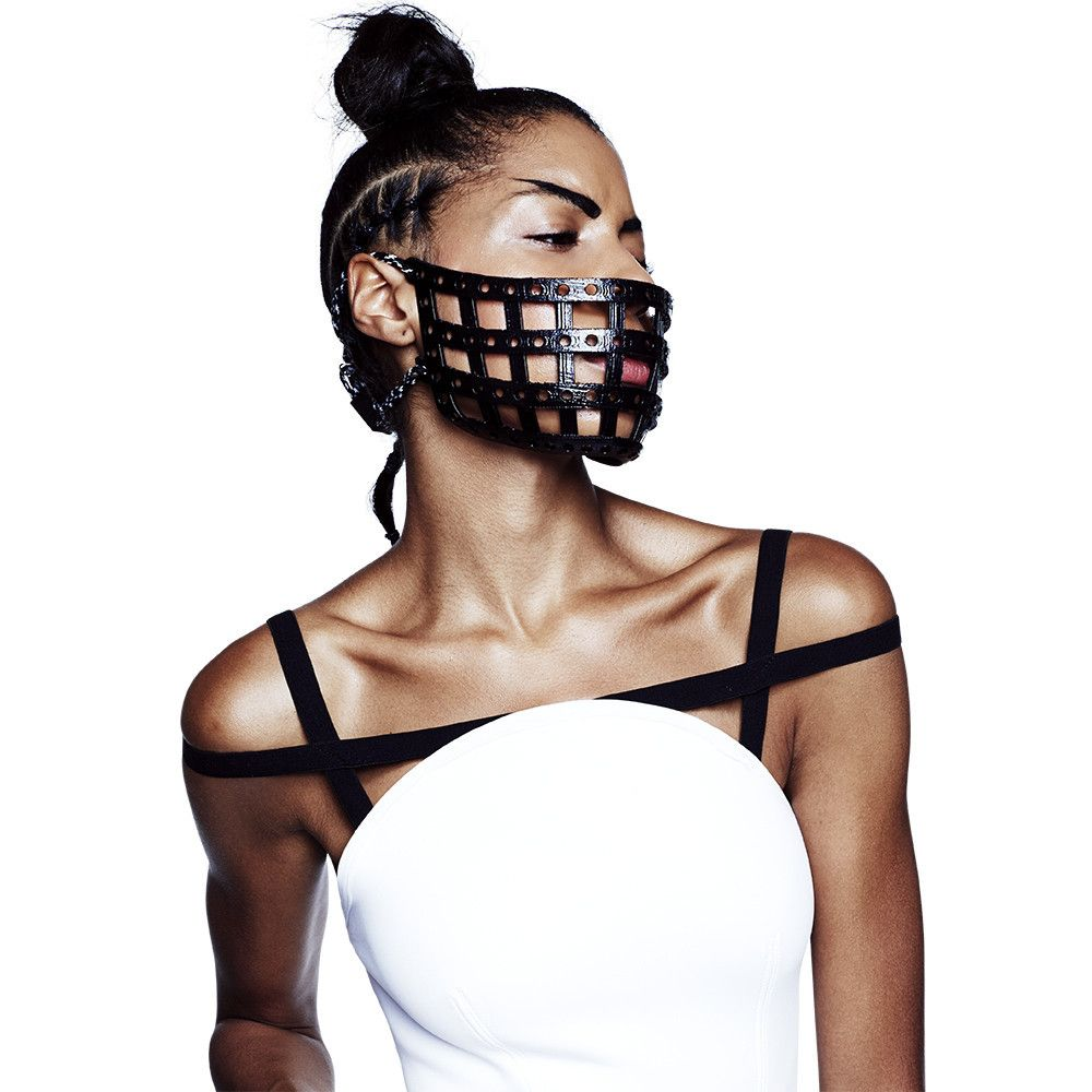 3d Printed Facemask Face Mask Chromat 3d Fashion