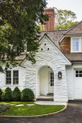 Brown Roof White House New House Pinterest White