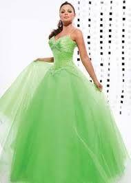 Vestidos de 15 largos verdes