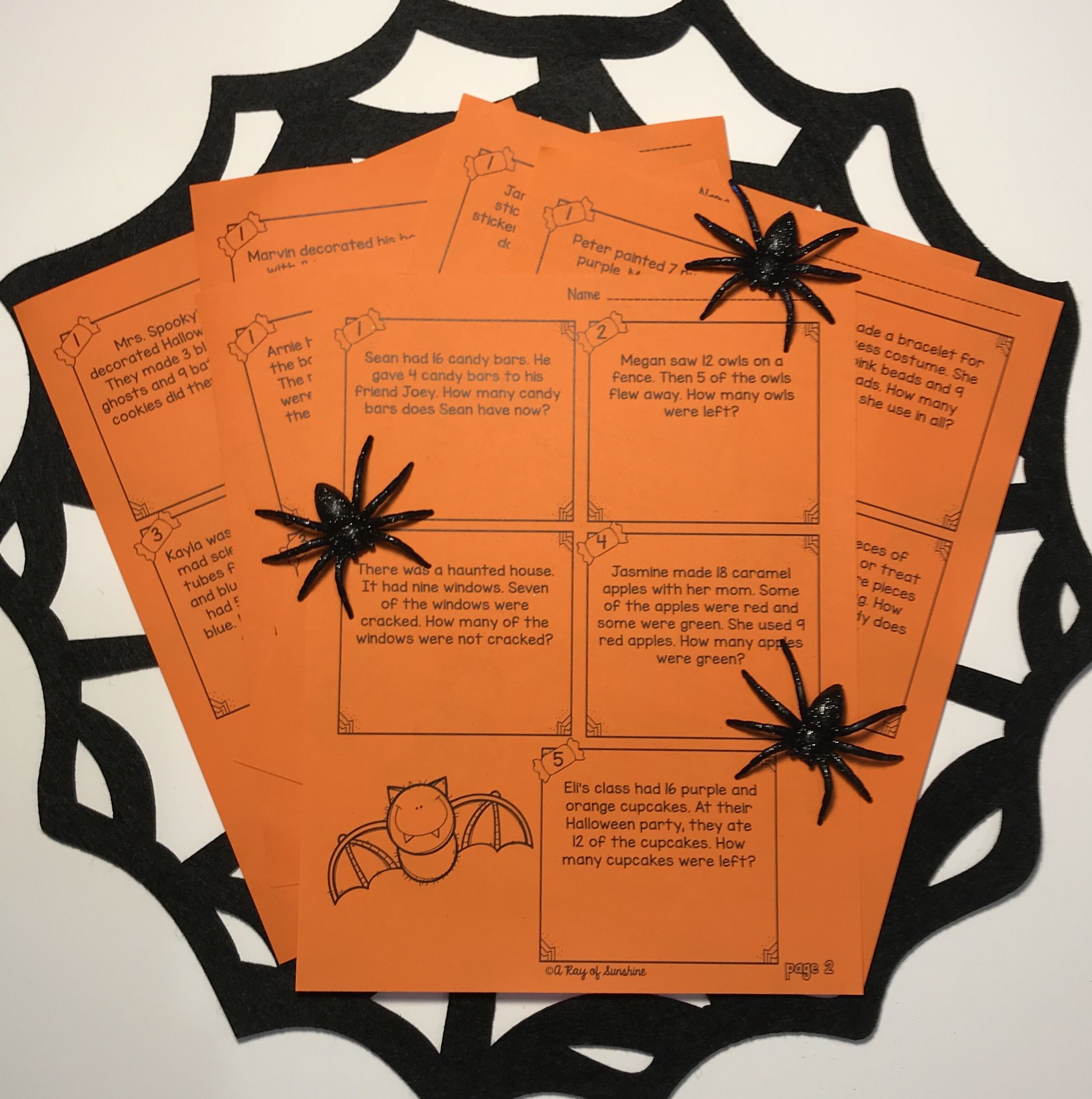 Halloween Word Problems Worksheets With Images