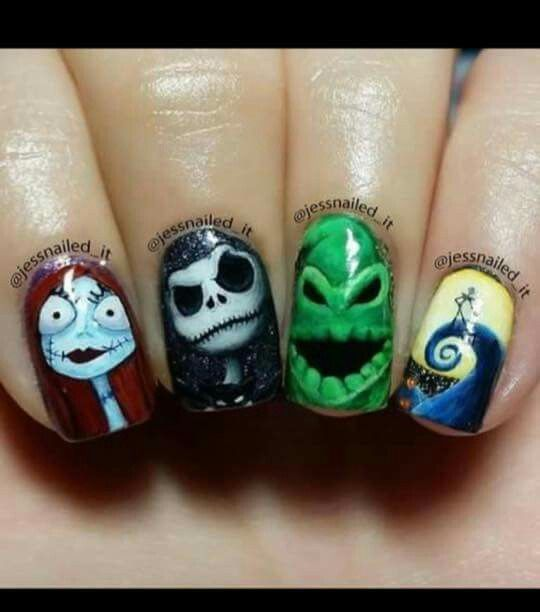 The Nightmare before christmas | Nails | Pinterest | Fun nails ...