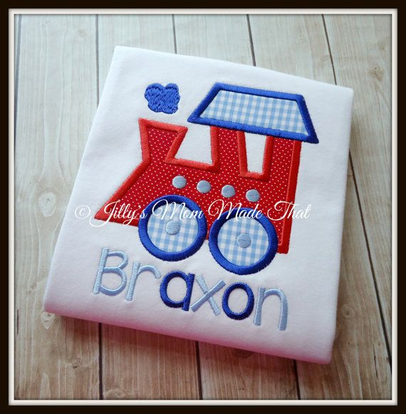 Birthday Train Shirt  Train Shirt Boys by JillysMomMadeThat