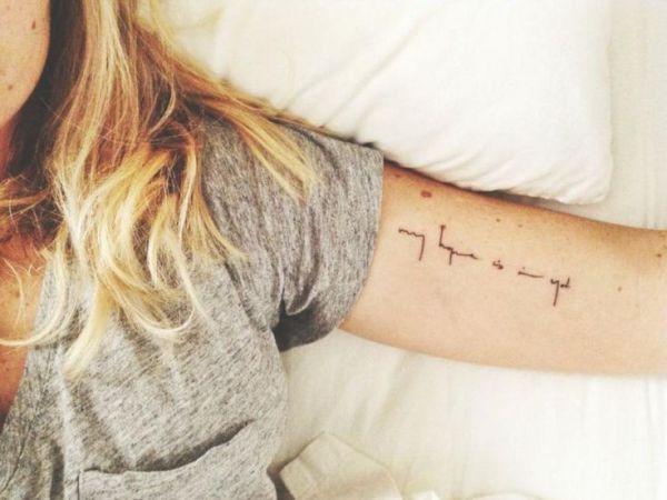 Bildergebnis für schriftzug tattoo unterarm | Tattoo