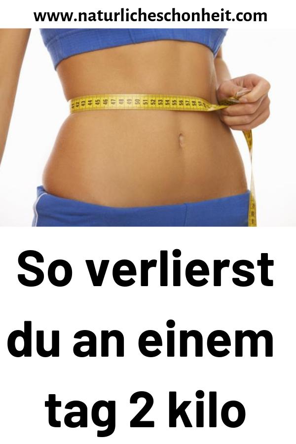 Gewichtsverlust an einem Tag 3 Kilo