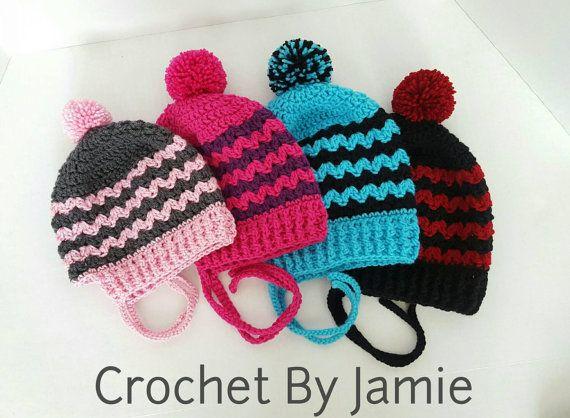 Zick Zack Streifen slouchy Hut Kind Erwachsenen von CrochetByJamie ...