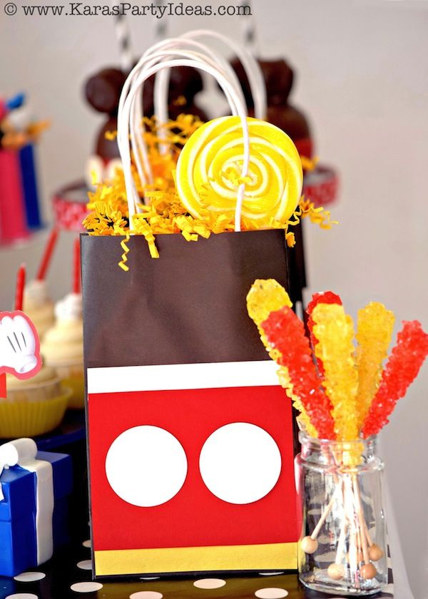 Mickey Mouse themed birthday party planning ideas supplies