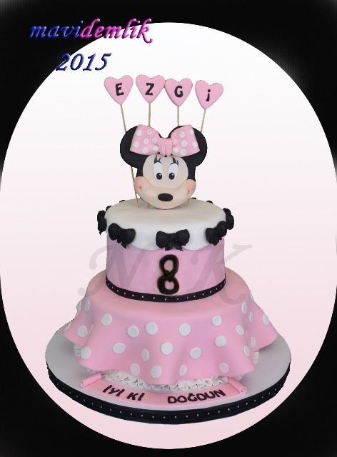Ezgi Nin Minnie Mouse Temali 8 Yas Pasta Ve Kurabiyeleri
