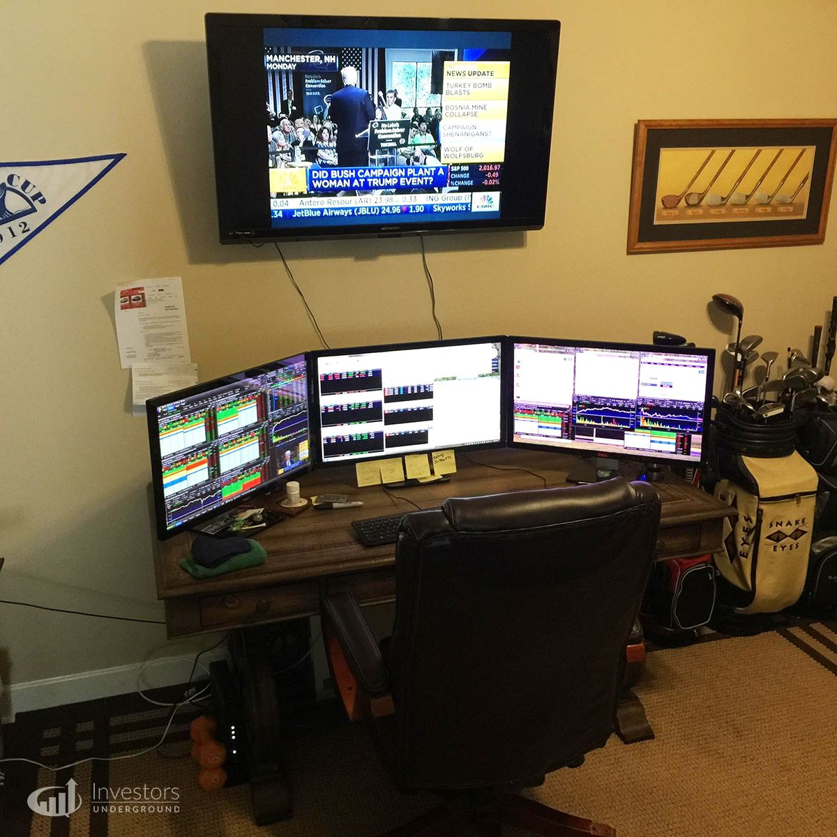 Elkwood66 Day Trading Computer Setup Trading Desk Office Setup Cool Office Desk