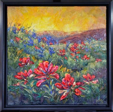 Landscape Artists International: New Indian Paintbrush Palette Knife  Painting By Niki Gulley