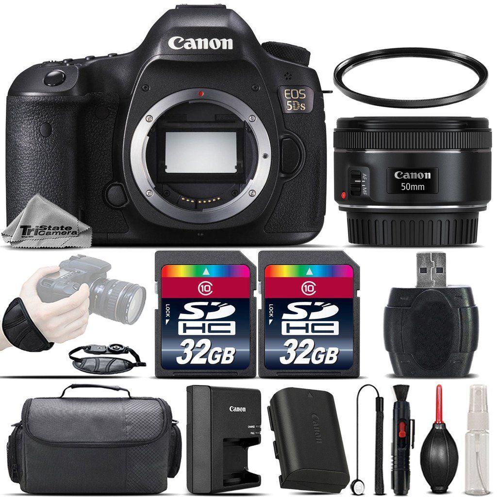 Canon EOS 5DS DSLR 50.6MP Full-Frame CMOS Camera EF 50mm f/ 1.8 STM ...